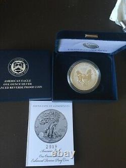 2019 S American Eagle One Ounce Silver Enhanced Reverse Proof Coin (s)