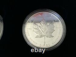 2019 W Amélioration De La Contre-preuve Silver Eagle Maple Leaf Pride Of Two Nations Set