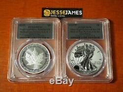 2019 W Silver Eagle Gpc Pr70 70 Pride Of Two Nations Set Fs Feuille D'argent Étiquettes