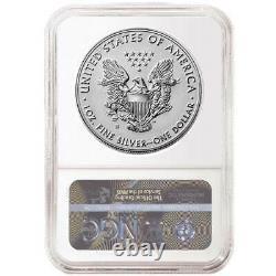 2019-s Amélioré Inverse Preuve 1 $ Américain Silver Eagle Ngc Pf69 Bleu Fr Étiquette