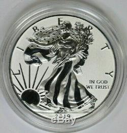 2019-s Améliorée Preuve Inversée Silver Eagle 19xe Coin Seulement
