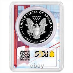 2019-s Proof 1 $ Américain Silver Eagle Chicago Ana Pcgs Pr70dcam Fdoi Golden Gate