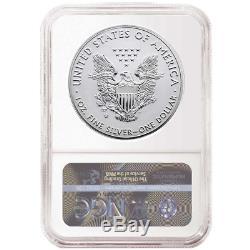 2019-w Inversé $ 1 Proof Américain Silver Eagle Ngc Pf70 Er Drapeaux Étiquette Pride Of T