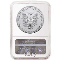 2019-w Inversé Preuve 1 $ Américain Silver Eagle Ngc Pf70 Bleu Er Étiquette Pride Of Tw