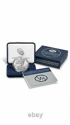 2020 Fin De La Seconde Guerre Mondiale 75e Anniversaire Eagle Silver Proof Coin V75 Sealed Box
