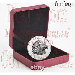 2020 Proud Bald Eagle 25 $ Ehr Extra High Relief Head Proof Silver Coin Canada