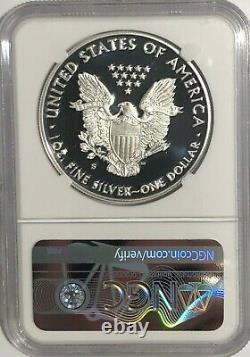 2020 S 1 Oz Ngc Pf70 Ucam Premier Jour D'émission Proof Silver Eagle Day 1er Étiquette