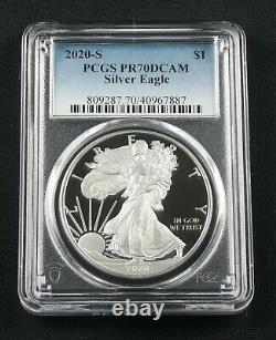 2020 S American Silver Eagle Pcgs Pr 70