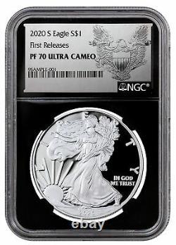 2020 S Proof Américaine Silver Eagle San Francisco Ngc Pf70 Uc Fr Bc Aigle Presale