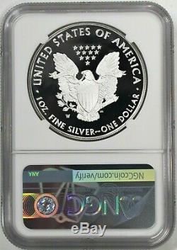 2020 W 1 $ Proof Silver Eagle Ngc Pf70 Ucam Premier Jour D'émission Mercanti Signé