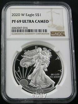 2020 W American Silver Eagle Ngc Pf 69