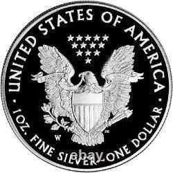 2020 W American Silver Eagle Proof V75 End Of World War II (20xf) En Ogp