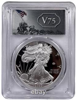 2020 W American Silver Eagle V75 Privy Proof Pcgs Pr70 Dcam Avec Ogp/coa