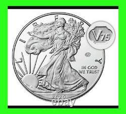 2020 W Fin De La Deuxième Guerre Mondiale 75e Anniversaire American Eagle V75.999 Preuve D'argent