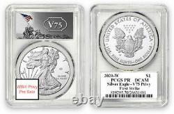 2020 W Fin De La Seconde Guerre Mondiale 75e American Silver Eagle V75 Pcgs Pf69 Presale