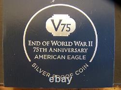 2020 W Fin De La Seconde Guerre Mondiale 75e Anniversaire Silver Eagle V75, Pcgs Pr70dcam