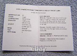 2020-s American Eagle Silver Dollar Preuve