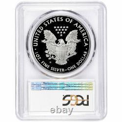 2020-s Proof $1 American Silver Eagle Pcgs Pr69dcam Fs San Francisco Label