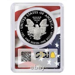 2020-w Preuve 1 $ Américain Silver Eagle Pcgs Pr70dcam Trump 45ème Président Étiquette F