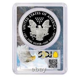 2020-w Preuve 1 $ American Eagle Argent Pcgs Pr70dcam Fdoi Aigle Cadre