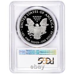 2020-w Preuve 1 $ American Eagle Argent Pcgs Pr70dcam Fdoi Drapeau