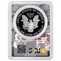 2020-w Preuve 1 $ American Eagle Argent Pcgs Pr70dcam First Strike Apollo Cadre