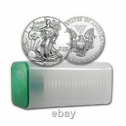 2021 1 Oz American Silver Eagle Bu Lot, Tube De 20 Pièces De Monnaie Type 1 Aigles Argentés