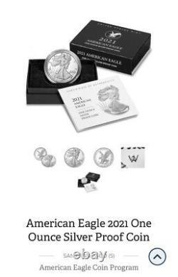 2021 American Eagle (s) Pièce De Preuve En Argent De Type 2 (21emn) Confirmed