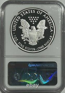 2021 W $1 Ngc Pf69 Er Ucam Preuve De Libération Anticipée Silver Eagle Heraldic T-1 35e Lb