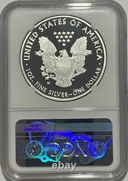 2021 W $1 Ngc Pf70 Proof Silver Eagle Félicitations Set West Point 35e Étiquette