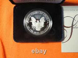 2021 W American Eagle 1 Oz Silver Proof Coin 21ea En Main
