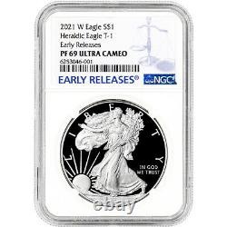 2021 W American Silver Eagle Proof Ngc Pf69 Ucam Premiers Lancements