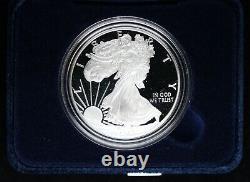 2021 W Proof American Silver Eagle Avec Boîte Et Coa Us Mint Ogp 1 Oz Fine Silver