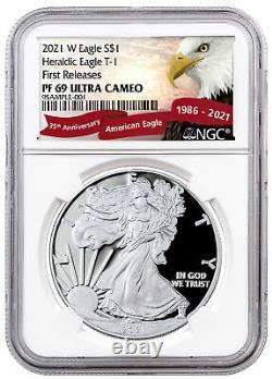 2021 W Silver Proof American Eagle Ngc Pf69 Uc En Exclusive Eagle Label