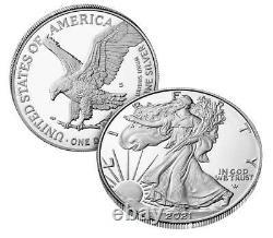 2021-s American Eagle Type 2 Pièce De Preuve D'un Once D'argent (21emn)