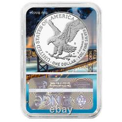 2021-s Preuve $1 Type 2 American Silver Eagle Ngc Pf70uc Fdi San Francisco Core