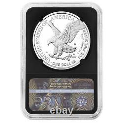 2021-s Preuve $1 Type 2 American Silver Eagle Ngc Pf70uc Trolley Ide Label Retro