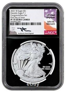 2021-w $1 1-oz Silver Eagle Proof T-1 Congratulations Set Last Year Of Issue