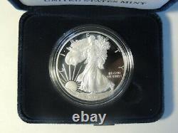 2021-w American Eagle 1 Oz Silver Proof Coin (21ea) En Main