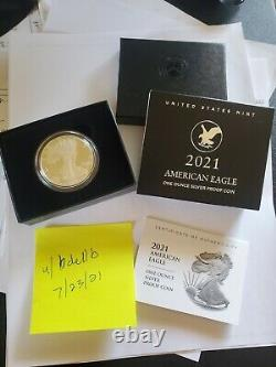 2021-w American Eagle One Ounce Silver Proof (21ean) Type 2, In-hand