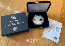 2021-w American Eagle One Ounce Silver Proof Coins (21ea) Pièces À La Main