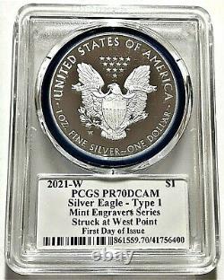 2021-w Engraveur De Monnaie Preuve Aigle Argenté-pcgs Pr70-fdoi-mercanti-type 1-heraldique