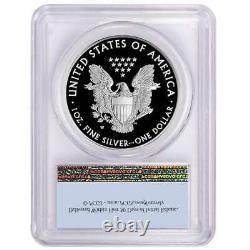 2021-w Proof $1 American Silver Eagle Pcgs Pr69dcam Première Étiquette De Drapeau De Grève