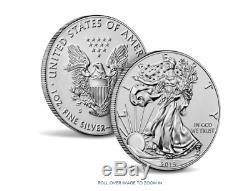 American Eagle 2019 Argent Améliorée Une Once Preuve Inverse Coin Ouvert