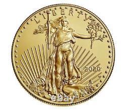 American Eagle 2020 1 Oz Pcgs Sp70 Gold Non Circulé Coin 20eh Firststrike