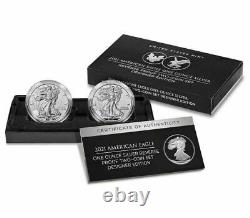 American Eagle 2021 One Onnce Silver Inverse Proof Two-coin Set Designer Edition