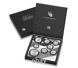 En Stock! 2017 S Proof Silver Eagle Limited Edition Proof Set 17rc En Ogp