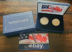 Fierté De Deux Nations 2019 Set Silver Proof Eagle & Maple Leaf Avec Ogp Box & Coa