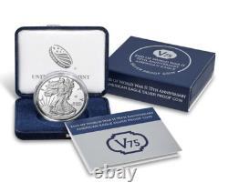Fin De La Seconde Guerre Mondiale 75e Anniversaire American Eagle Silver Coin Sealed Box