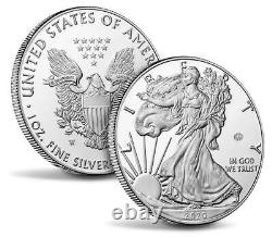 Fin De La Seconde Guerre Mondiale 75e Anniversaire American Eagle Silver Proof Coin In Hand